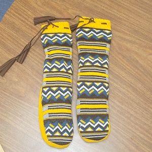 Versace 19V69 Aztec Pattern Fleece Slipper Socks